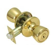 Commercial Furniture Key Lock Door Knob , Push Button Door Knob