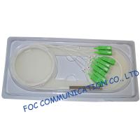 Fiber Optic Plc Splitter With SC / APC Connector Low Loss For Test Equipments