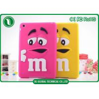 China M&M Rainbow Beans Silicon Tablet Protective Cases for iPad 2 iPad 3 iPad 4 on sale