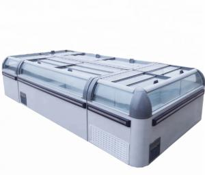 China Commercial Deep Chest 900L Island Display Freezer on sale