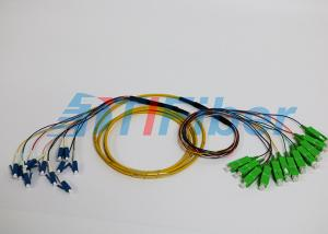 China SC / UPC to LC / UPC fiber optic cable patch cord  Multi mode 12 Core LSZH Jacket on sale