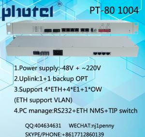 China BACKUP FIBER OPTICAL PDH support 4E1+4ETH on sale