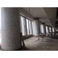 High Building Marble Columns Decorative Round White Stone Column For Hotel