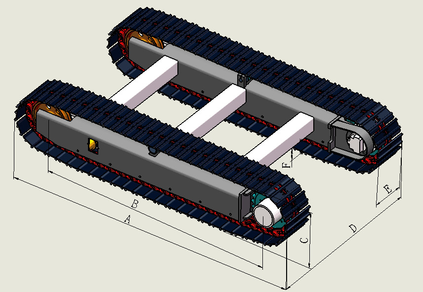 dimensions of track undercarriage