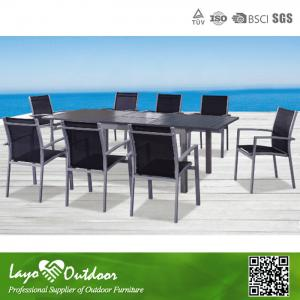 China Fashion Design Extendable Patio Dining Table UV Protection , Retro Extending Glass Dining Table on sale