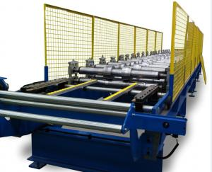 China 18 Stations Blue Wall Panel Roll Forming Machine 5.5KW With Double Uncoiler on sale