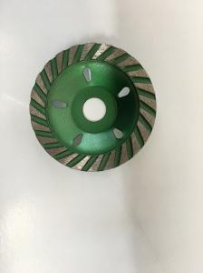 China Green 4.5  Inch Diamond Cup Wheel  , Concrete Polishing Wheel For Grinder on sale