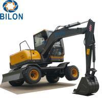 Easy Operation Road Builder Excavator 7 Ton Wheel Excavator Rubber Tire Excavators