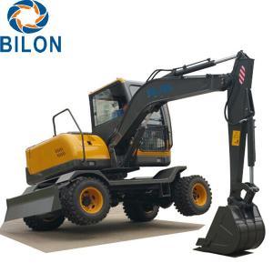China Easy Operation Road Builder Excavator 7 Ton Wheel Excavator Rubber Tire Excavators on sale