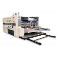 Flexo Printing And Die Cutting Machine , Corrugated Box Flexo Printer Slotter Die Cutter