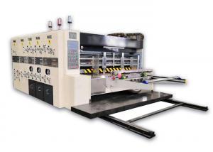 China Flexo Printing And Die Cutting Machine , Corrugated Box Flexo Printer Slotter Die Cutter on sale