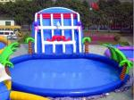 China Adults PVC Inflatable Aqua Water Game Park With Slide wholesale