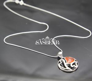 China 18 Inch Sasbear Gemstone Necklace 100% 925 Sterling Silver Value on sale