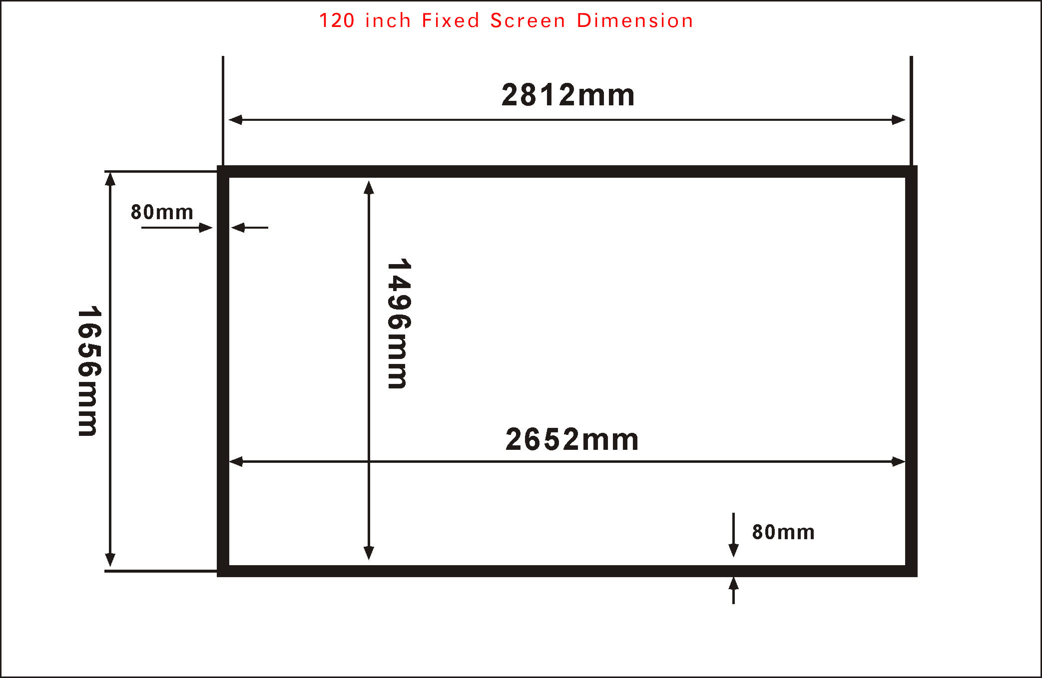 Amazing image 3d projection screen 120inch