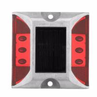 Outdoor Solar Led Road Studs Reflective Ground Light No UV Rays Quickly Installed