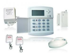 China intelligent GSM/PSTN auto-dial wireless burglar alarm systems with LCD screen on sale