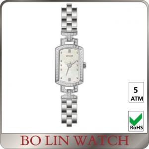 China Milanese Mesh Women'S Square Face Silver Watches , Citizen Ladies Watches Steel Strap on sale