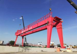 China General Lifting Equipment Rail Mounted Double Girder Gantry Crane Price on sale