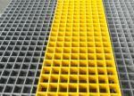 Roof Terrace Fibreglass Mesh Flooring, 50 X 50 X 50mm Molded FRP Grating