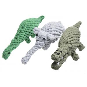 China Animal Design Cotton Rope Ball Dog Toy , Soft Corduroy Puppy Rope Toy on sale