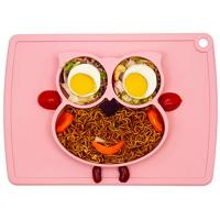 China Silicone Placemat - Toddler Plates BPA-Free FDA Approved Feeding Plate Mat 11x8x1 inch for Babies Kids on sale