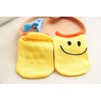 China Soft touch jacquard cartoon design non slip newborn baby grips cotton socks on sale
