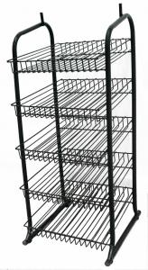 China Supermarket Merchandise knock down adjustable wire display racks with 5 wire shelves on sale