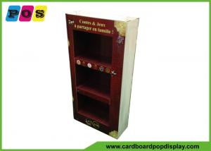 China Point Of Purchase Cardboard Product Display Stands With Books Printing Shape M003 on sale