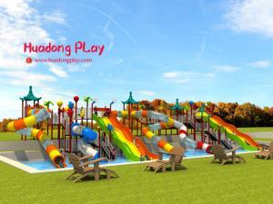 China Adventurous Water Park Playground Equipment 2900*1020*710cm 100 CBM on sale