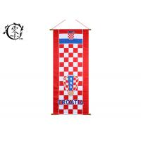 China Croatia National Multicultural Flag Banners Shabby Canvas Print Picture Frame Gift Home Decor Office Wall on sale