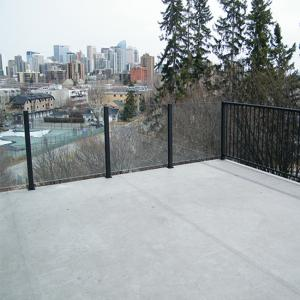 China New Aluminium Handrail Glass Balustrade Balcony Glass Railing supplier
