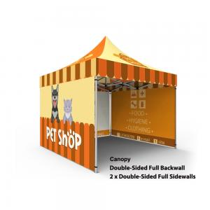 China Custom Printed Trade Show Canopy Tent , 10x10 Display Tent Hexagon  Aluminum Tube on sale