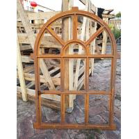 China Arched Mirror Cast Iron Windows For Garden Standard Size Antique Metal Windows on sale