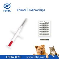 China RFID Tracking Tags For found animals microchip 134.2khz 1.4mm Glasstag on sale
