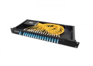 China 16CH Dual Fiber Cwdm Multiplexer / Demultiplexer 1U 19'' Rack Package on sale