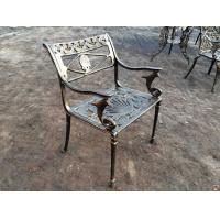 China French Style Cast Iron Outside Table And Chairs Antique Bronze For Park on sale