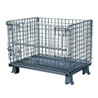 Durable Collapsible Wire Container , Steel Storage Bins For Auto Parts Manufacturing , Hardware Industry