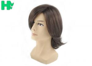 China Mens Short Hair Wig Machine Made Tangle Free , Mens Wigs Human Hair on sale