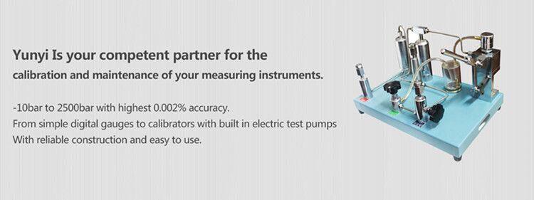 Portable hydraulic pressure gauge calibrator hydrostatic test pump