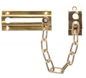 China Solid Brass  Security Door Locks , Commercial Door Locks Chain Guard on sale