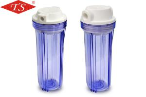 China Durable Clear Plastic Filter Housing , RO Water Filter Housing 10 Inch Height on sale