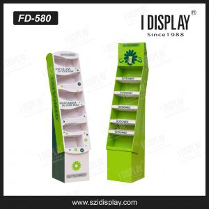 China FD-580 customized personalize corrugated cardboard floor display stand with tray on sale