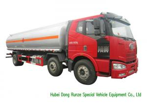 China FAW 18000L Liquid Tank Truck / Diesel Fuel Delivery Trucks With Dispenser on sale