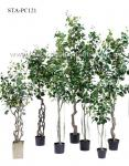 Ideal Tropical Artificial Banyan Tree Small Leaves Special Design Eco Friendly