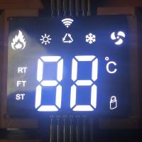 Ultra thin custom SMD White 7 Segment LED Display common anode  for air conditioner controller