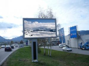 China P8 Outdoor advertising LED Display Screen SMD3535 LED ad board 7500 cd / ㎡ on sale