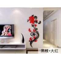 high quality home decorations removable rose wall stickers/wall decals/art prints/adhesive wall decals