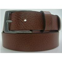 Tan Casual Leather Belts Pronged Buckle Harness Leather Belt For Mens