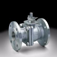 Flange Connection 2 Way Ball Valve , Grey Color Pneumatic Actuated Ball Valve