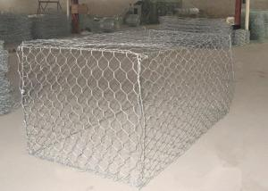 China 1 x 1 x 1m Heavy Zinc / Gray  Coated  Woven Gabion Box  with 4 . 0 Wire Daimeter on sale